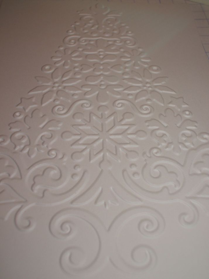 Embossed on white