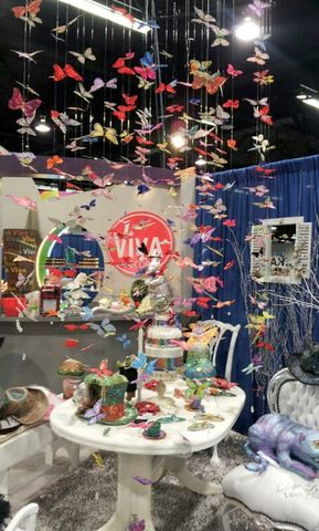 Off in the FAR corner at the back is this fairyland like booth by Viva Decor